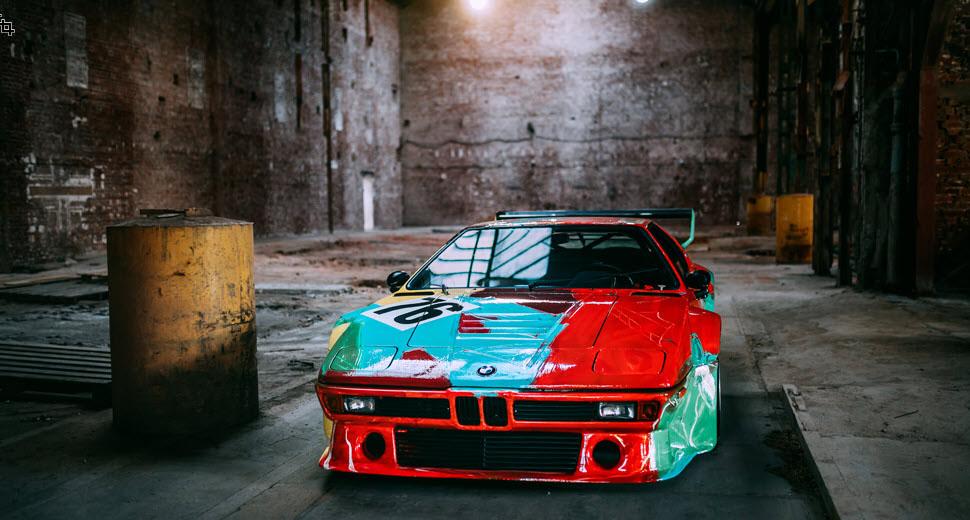 The BMW M1 Art Car by Andy Warhol.
